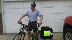 Dad of the Year - Bike To School Day - Calgary, AB