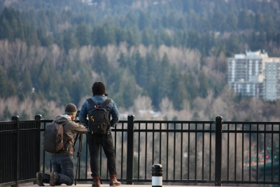 Filming from Prospect Point