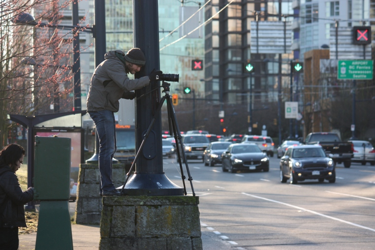 Ben capturing a tricky downtown sequence