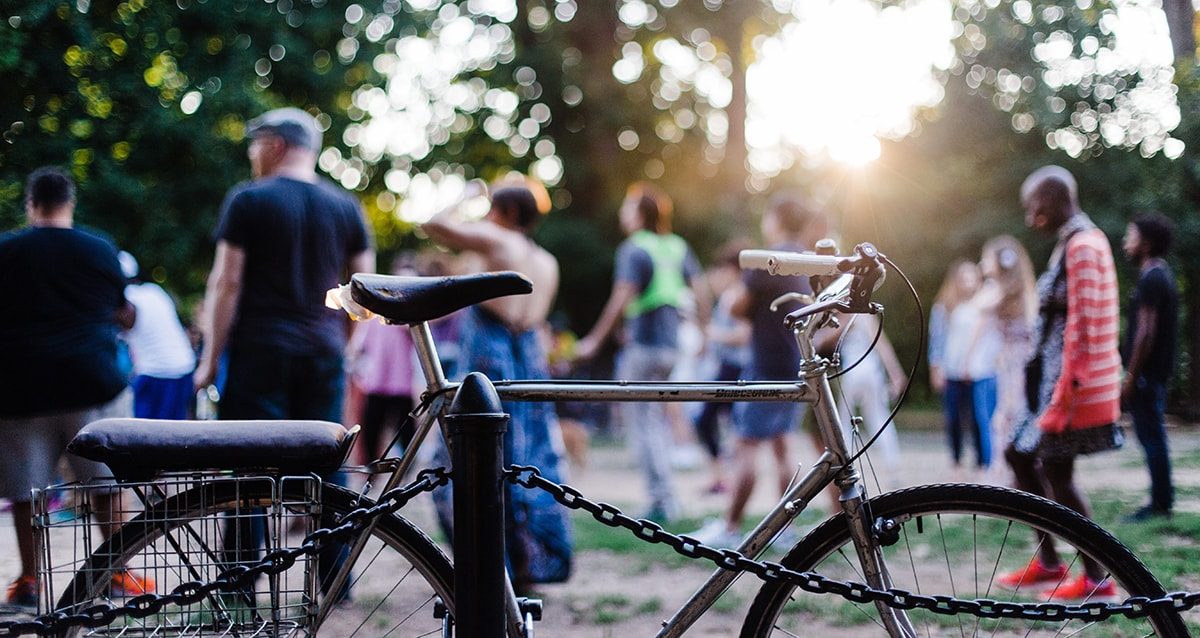 Bike to Work - Community of Cyclists in Park