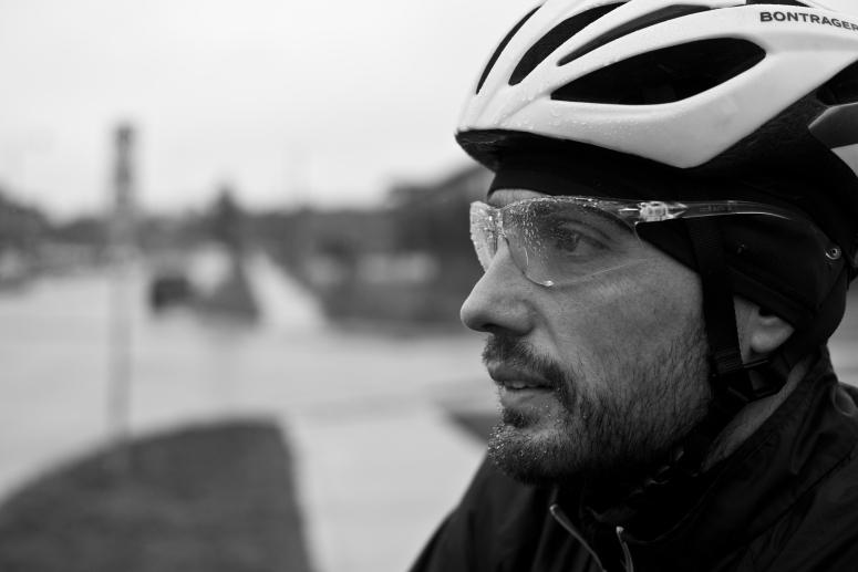 Bike Commuter in the rain.