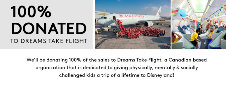 100% donated to Dreams Take Flight