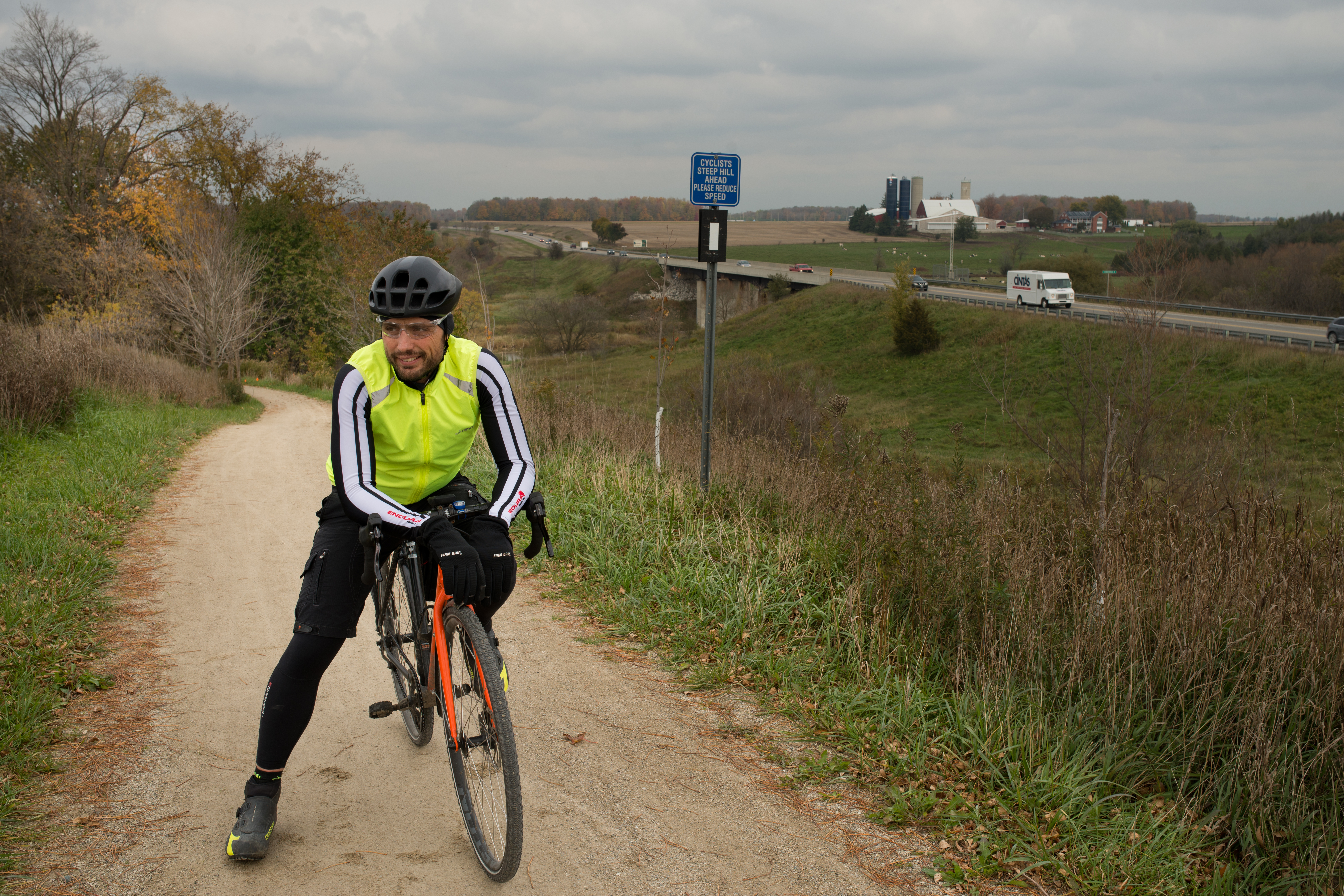 Bike Commuter on a trail
