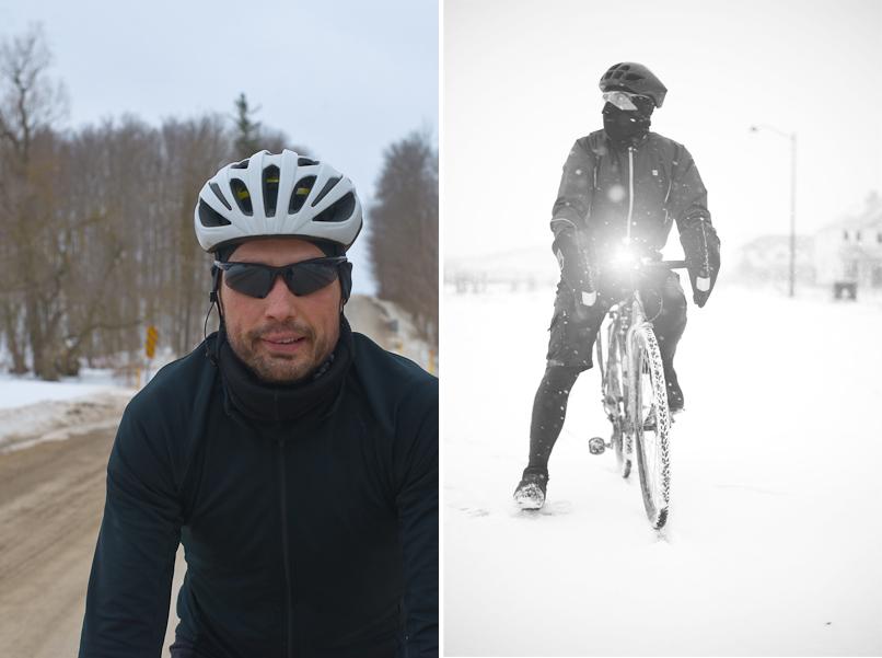 Winter bike commuter