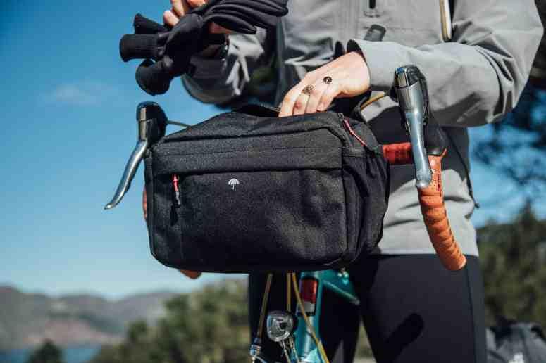 Two Wheel Gear - Mini Messenger Handlebar Bag - Woman commuting in San Francisco