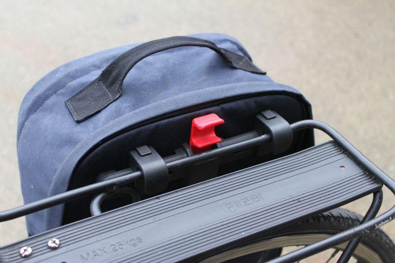 Two Wheel Gear - KLICKfix Kompakt Rail Pannier Mounting System on Pannier Backpack Convertible