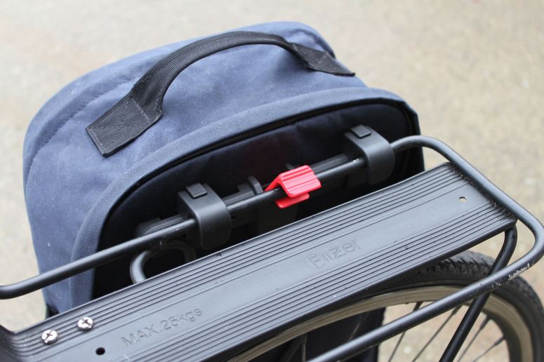 Two Wheel Gear - KLICKfix Kompakt Rail Pannier Mounting System on Pannier Backpack Convertible