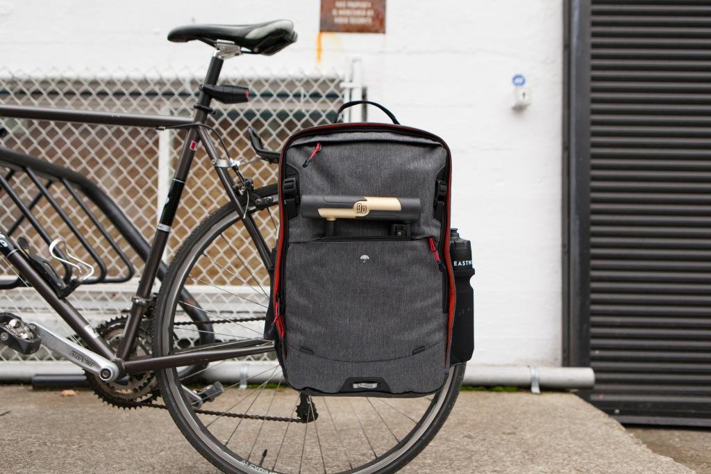 Two Wheel Gear - Pannier Backpack PLUS - On Bike