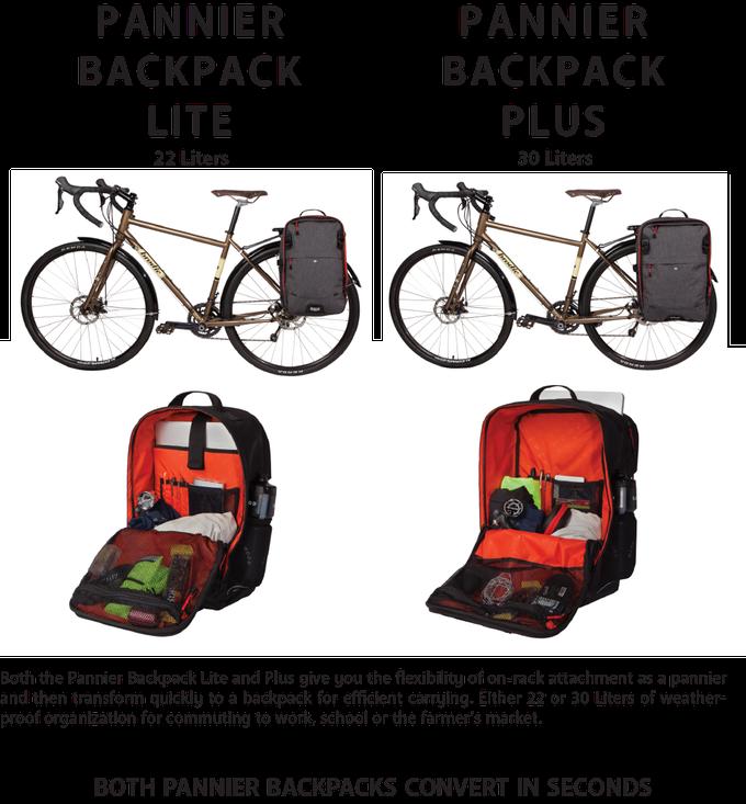 Two Wheel Gear - Pannier Backpack LITE vs PLUS