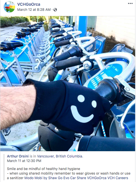 Bike to work - hygiene - mobi bike share